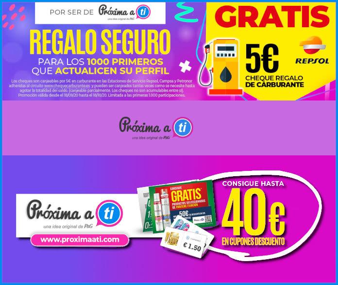 Próxima a ti, 5 Euros Regalo Gasolineras Repsol