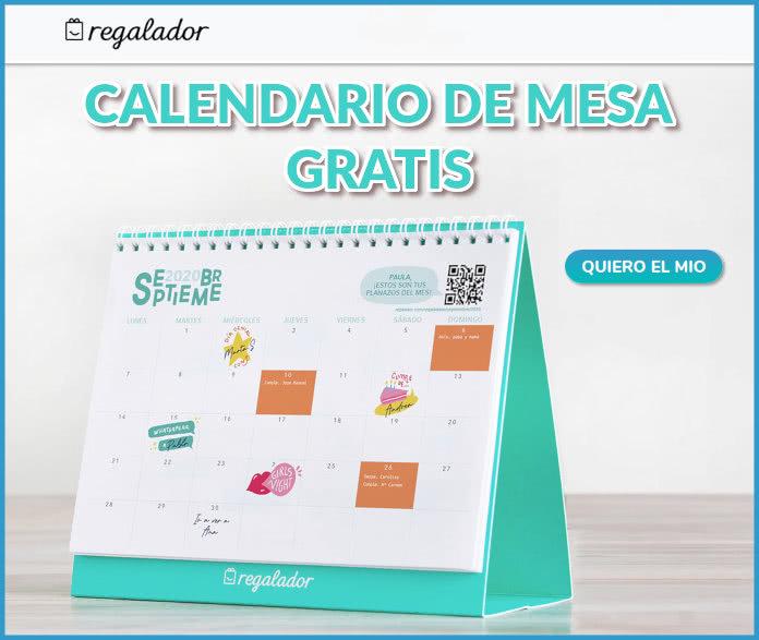 Regalador Calendario Mesa Gratis