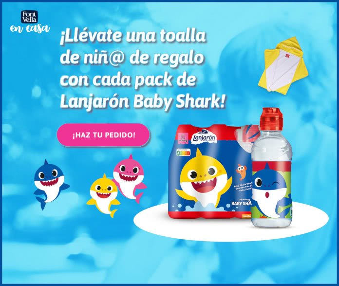 Regalo Directo Por Compra Lanjaron Fontvella Baby Shark Toalla