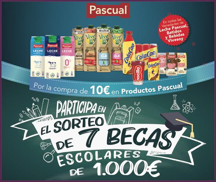 Sorteo Pascual 7 Becas 1000 Euros