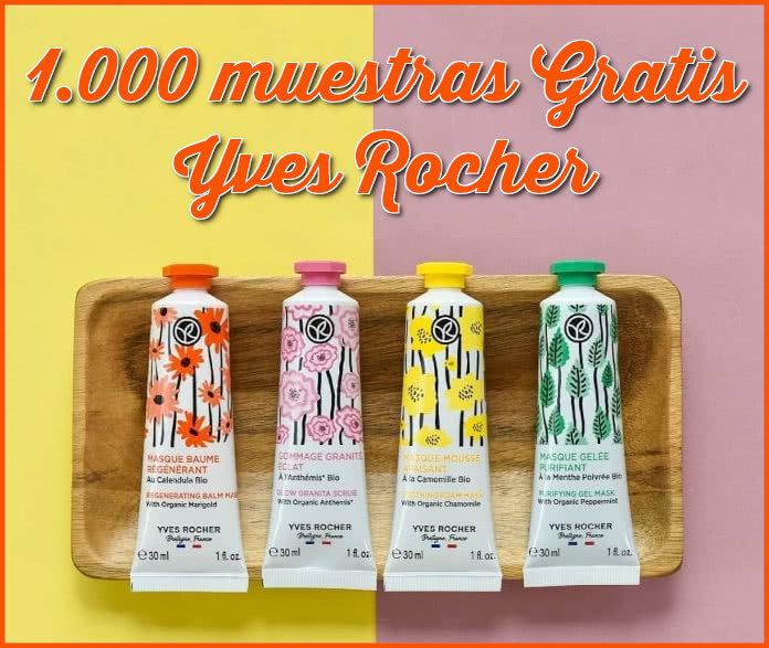 1000 Muestras Gratis Mascarillas Yves Rocher