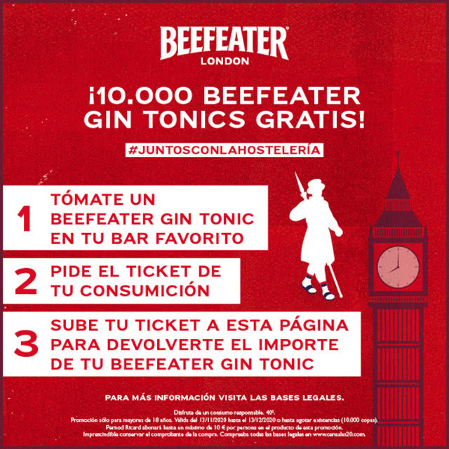10000 Beefeater Dry Pink Reembolsos