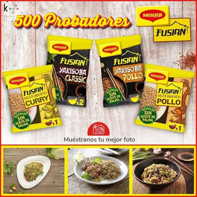 500 Probadores Fideos Maggi Kuvut