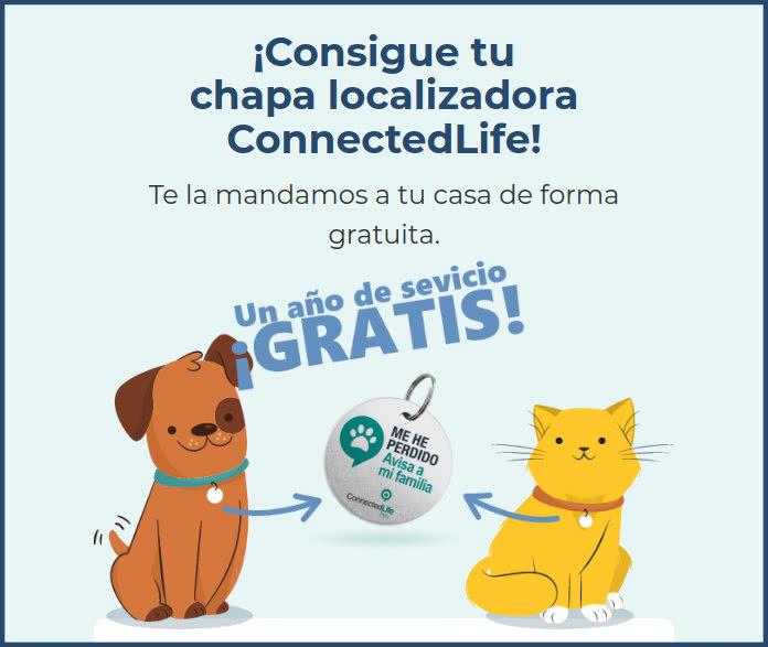 Connected Life Chapa Mascota Gratis