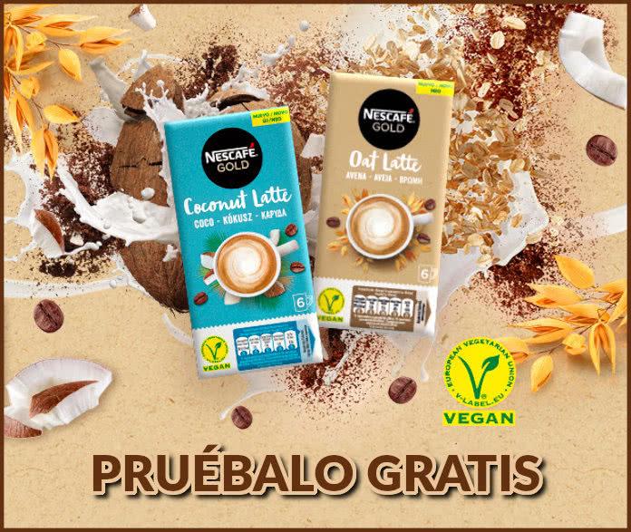 Nescafé Gold, Pruébalo Gratis para la gama Lattes Veggies