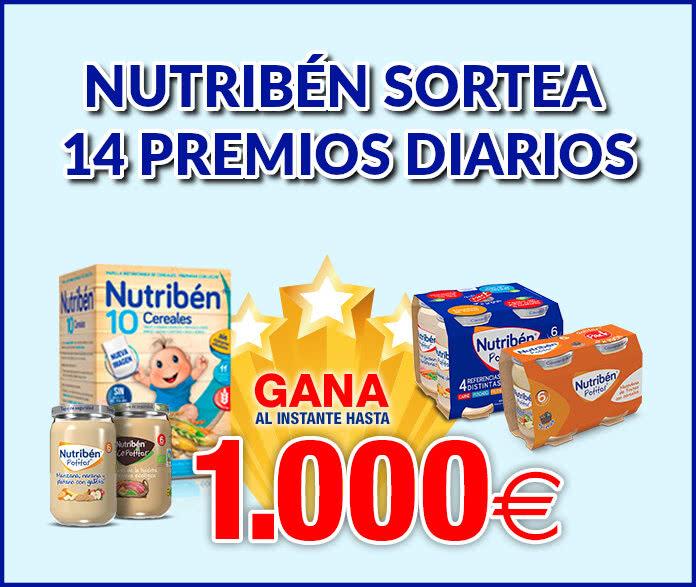 Nutribén Sorteo Diario Premios Hasta 1000 Euros