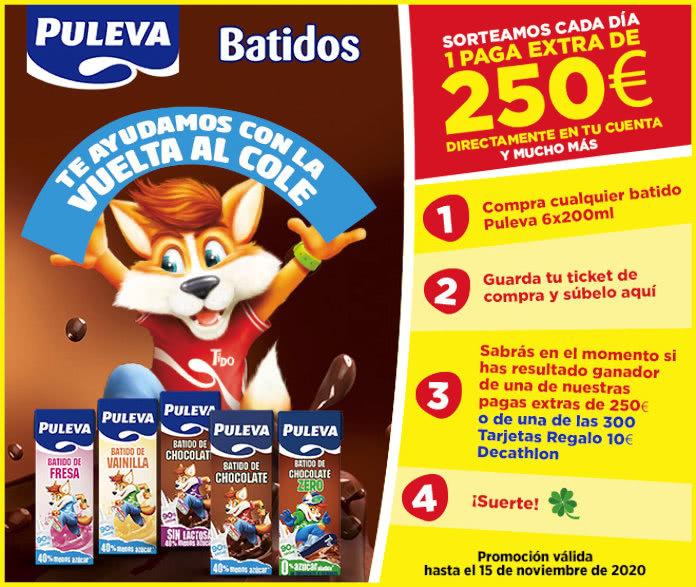 Puleva Batidos Sorteo 250 Euros Diarios
