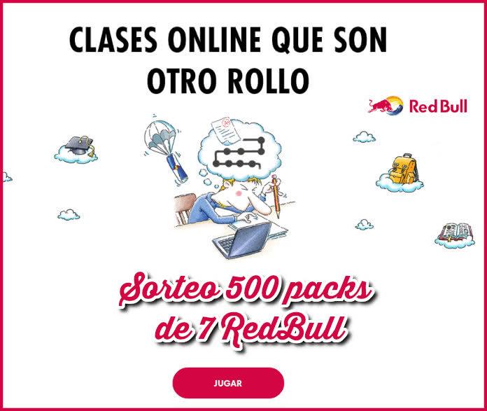 Redbull Study Sorteo 500 Packs 7 Latas