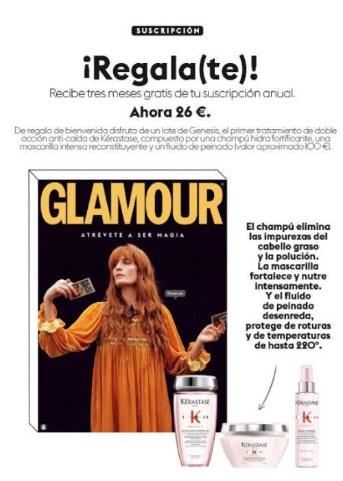 Regalos Suscripción Revistas Glamour Diciembre 2020