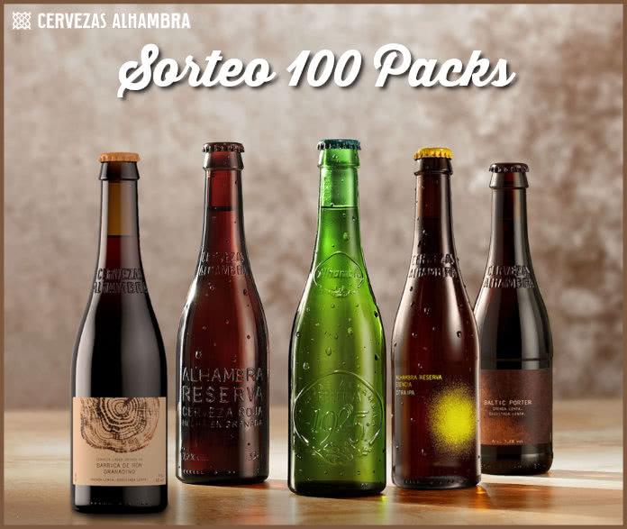 Sorteo 100 Packs Cerveza Alhambra