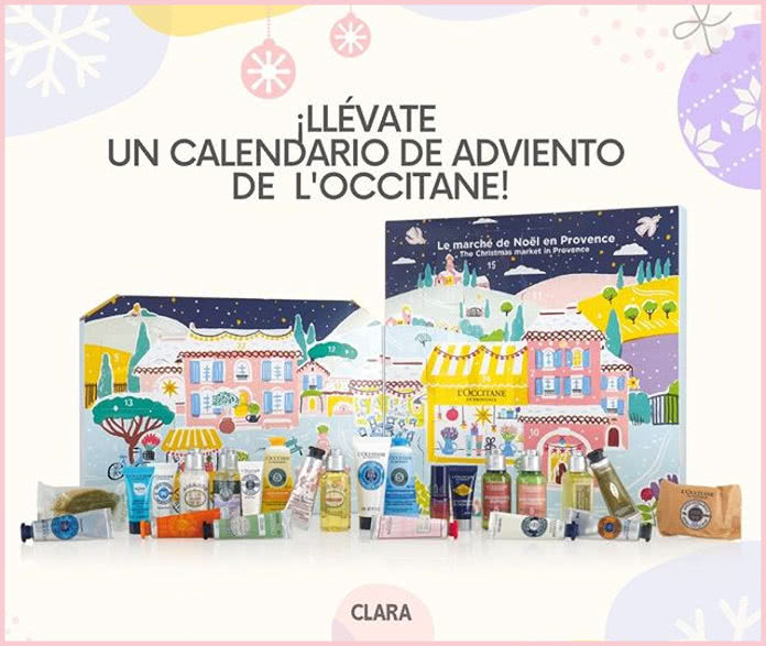 Sorteo Calendarios Adviento L'occitane Revista Clara