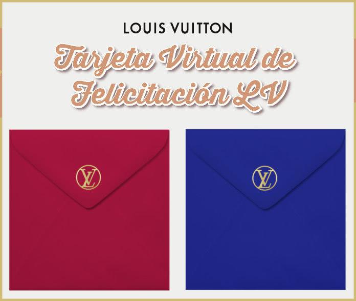 Tarjeta Felicitación Virtual Louis Vuitton