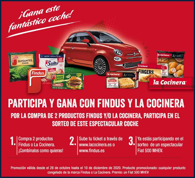 Lacocinera Findus Sorteo Coche Fiat 500
