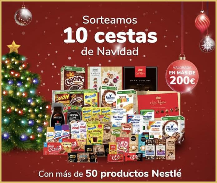 Nestlé Sorteo 10 Cestas Navidad
