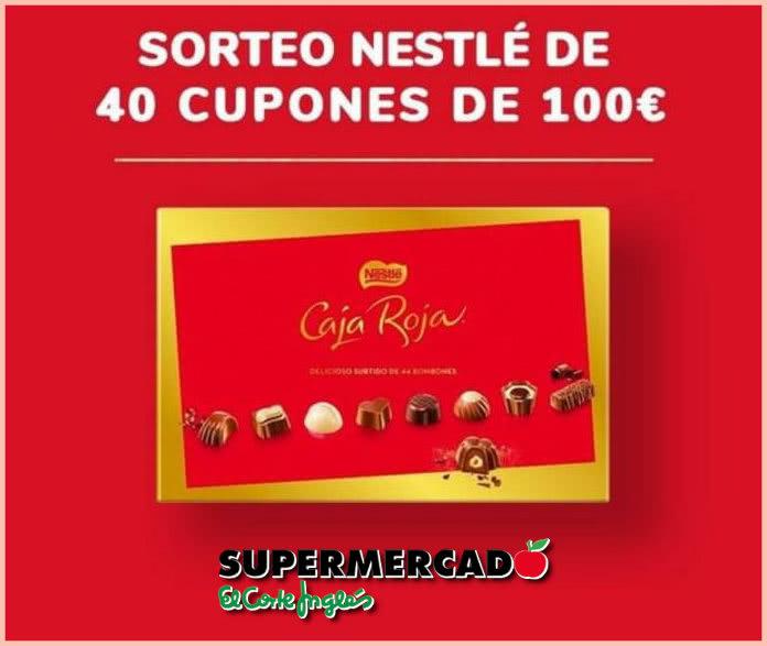Sorteo ECI 40 Cupones 100 Euros Bombones Nestlé