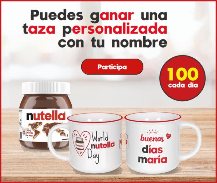 Nutella Sorteo 6300 Tazas Personalizadas