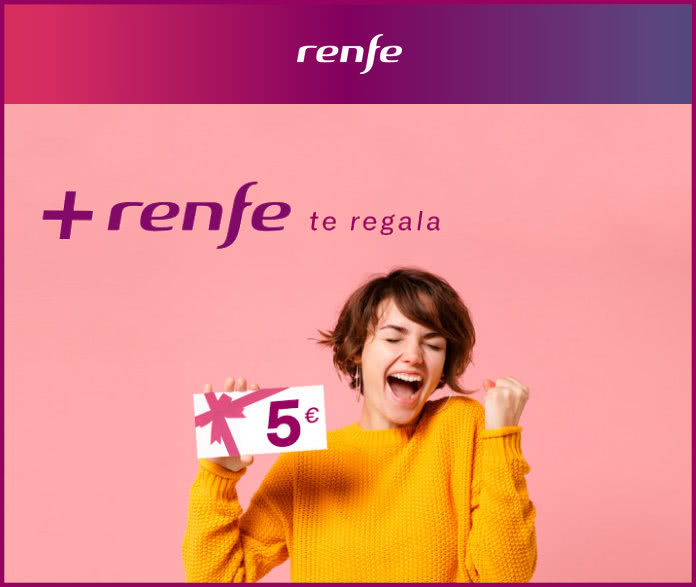 Renfe 5 Euros Descuento Por Unirte a Renfe+