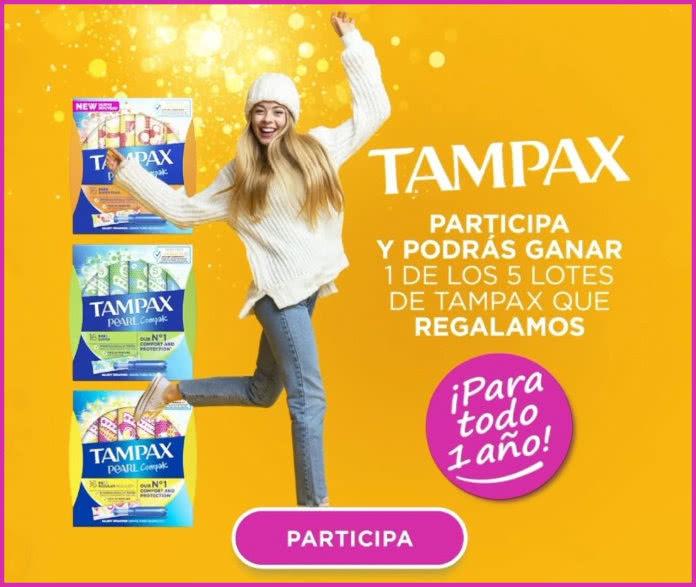 Tampax Sorteo 5 Premios Para 365 Días