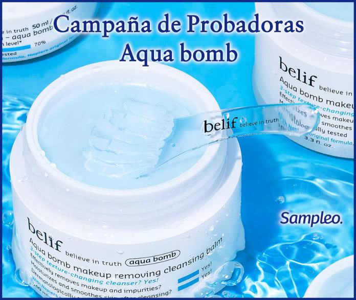 Proyecto Testers Sampleo Aqua Bomb Belif