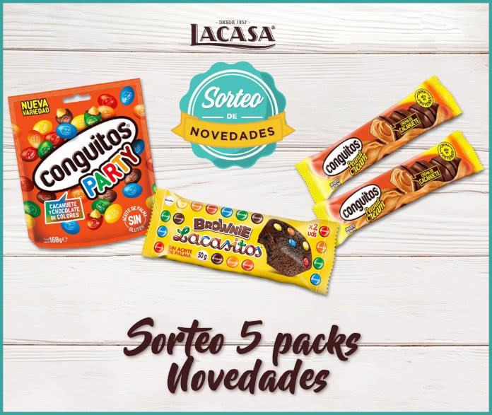 Sorteo 5 Packs Novedades Chocolates Lacasa
