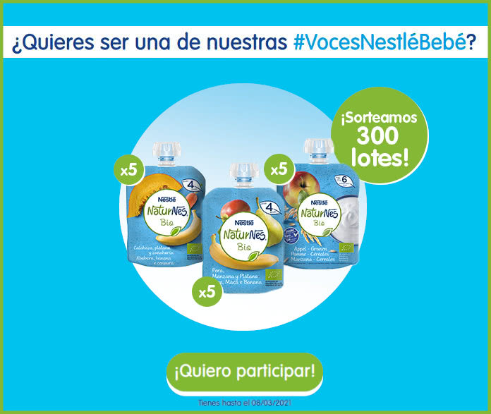 300 Muestras gratis Nestlé Bebé Naturnes Bio Sorteo