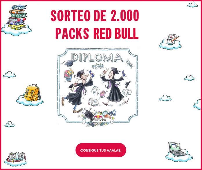Redbull Sorteo 2000 Packs Estudiantes