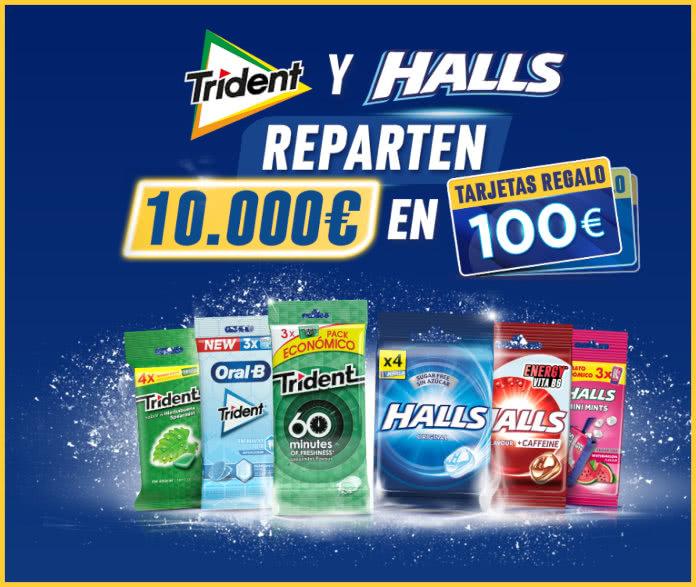 Gana Con Trident Halls 100 Tarjetas 100 Euros