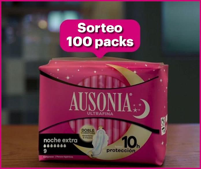 Sorteo Ausonia Noche 100 Packs