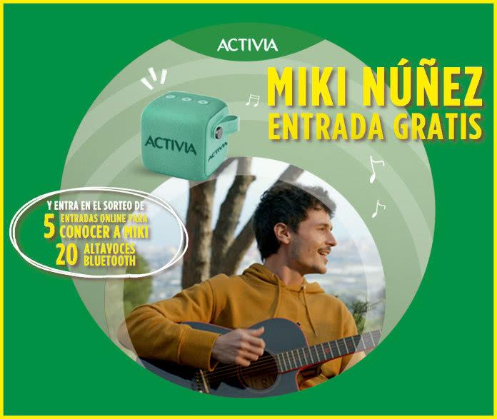 Activia Sorteo Entradas Altavoces Pases Miki Nuñez