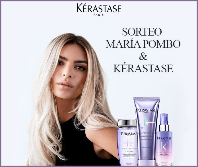 Sorteo Kerastase María Pombo 30 Premios Blond Absolu
