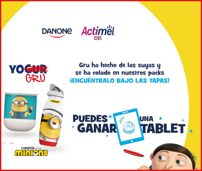 Sorteo Por Compra Danone Actimel Kids Tablets